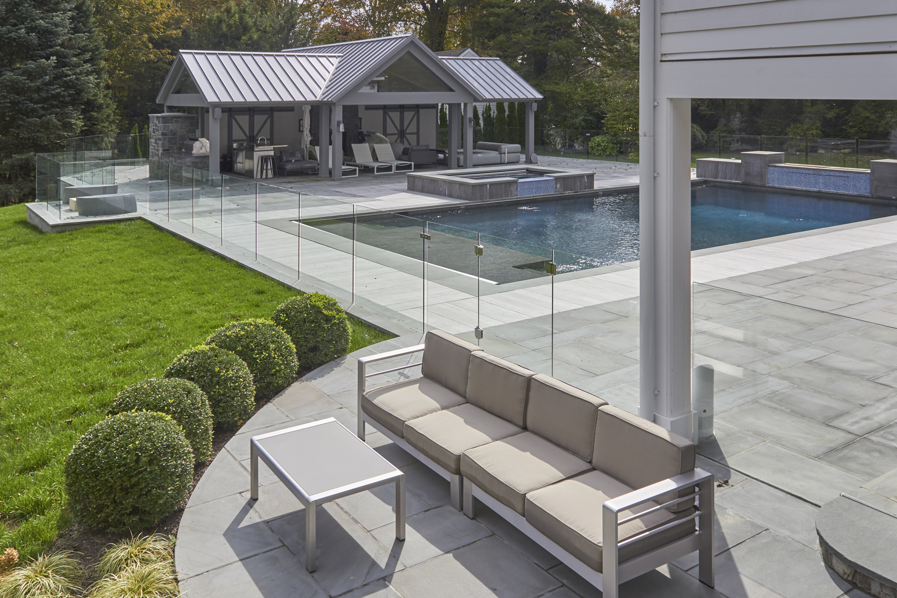 Glass Pool Fence Frameless Glass Pool Fence American Frameless - Swimming-pool-structural-design